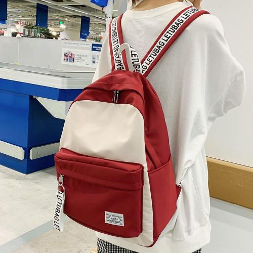 Student Nylon Female Backpack Cute Women School Bag Teenage Girl Kawaii Backpack Harajuku Ladies Fashion Bags Luxury Book Letter