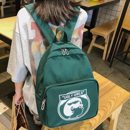 Print Cute waterproof backpack women school bags for teenage girls lady kawaii nylon backpack luxury harajuku female student bag