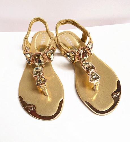 Shoes women sandals 2020 hot fashion rhinestone summer shoes women sandals clip toe women shoes sandalia feminina