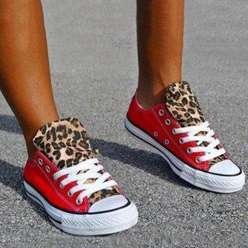 New Flats Women Leopard Canvas Sneakers Loafers Shoes Walking Ladies Female Casual 2020 Woman Plus Size 35-43 Zapatos Mujeres
