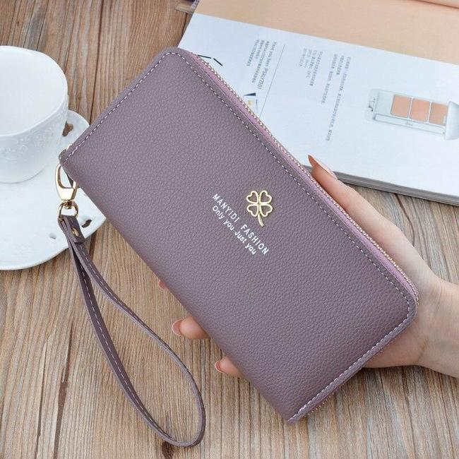 Fashion Long PU Leather Women Wallet Litchi Grain Wallets For Woman Wallet Purse Clutch Credit Card Holder Mobile Phone Bag.
