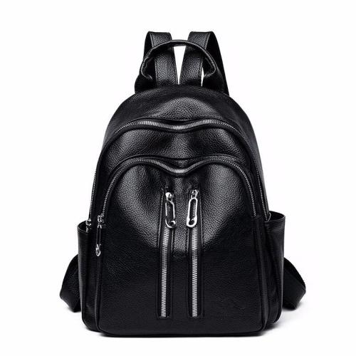 Women Black Leather Backpacks High Quality Mochila Ladies Bagpack Preppy Travel Famous Brand  Luxury Designer Ladies Back Pack
