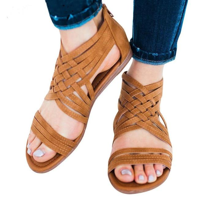 Women Sandals 2019 Gladiator Sandals For Women Summer Shoes Plus Size Rome Beach Sandalias Mujer Low Heel Wedges Shoes Female