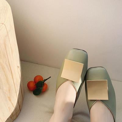 Woman Casual Solid Slippers Ladies Mules Elegant Women Comfortable Female Classic Square Toe Slides Women's Footwear 2020