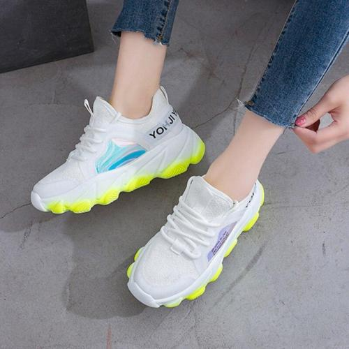 Platform sneakers women white Breathable Mesh casual shoes female new Summer Flat Women Vulcanize Shoes tenis feminino VT249