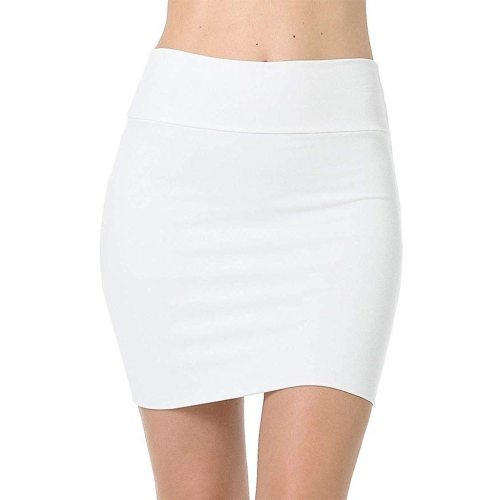 Womens Skirts Plus Size High Waist Classic Simple Stretchy Tube Pencil Mini Sexy Skirt Faldas Mujer Moda 2020 Miniskirt New #yj