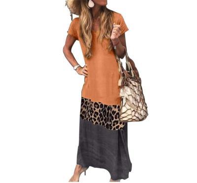 2020 Vintage Leopard Long Dress Plus Size Loose Beach Summer Dresses Fashion Casual Women Dress Long Sleeve & Short For Choice