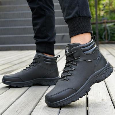 Winter thick plush men's snow boots Men's boots shoes winter warm non-slip shoes fashion ankle boots men's Botas Hombre 2020