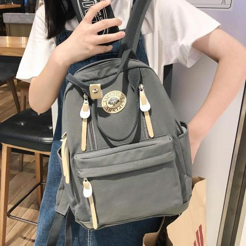 Female Cute Multi Pocket Backpack nylon Women School Bags For Girls Fashion Student Backpack Kawaii Lady Bag Luxury Teenage book