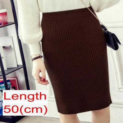 2020 Women Office Skirt Spring autumn Sexy Warm Knitted Black Pencil Skirts Ladies High Waist Elegant Long Skir Party Club Skirt