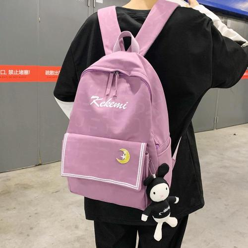 Fashion Print Nylon Backpack Cute Women Waterproof Kawaii School Bag Student Teenage Girl Backpack Female Luxury Bag Book Ladies
