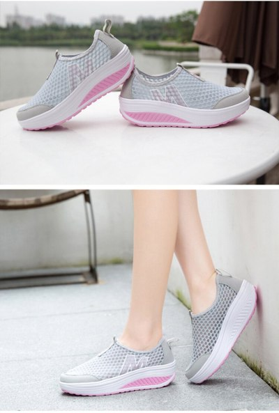Women Casual shoes Breathable Female shoes For Sports Hollow Air mash 2019 Non slip Light Platform shoes Women sneakers