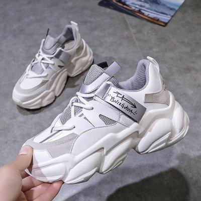 2020 Autumn Woman Platform Sneakers Brand Chunky Mesh Breathable Casual Shoes Tenis Female Fashion Sports Vulcanized Shoes Women