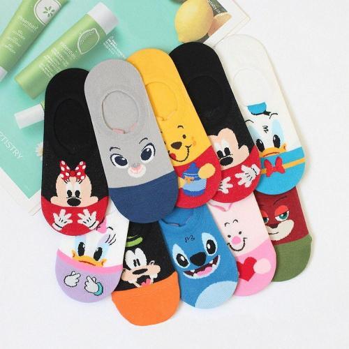 Women Socks Cute Cartoon Breathable Soft Kawaii Short Ankle Socks Summer Mouse Cat Duck New Creative Pattern Street Trend Style