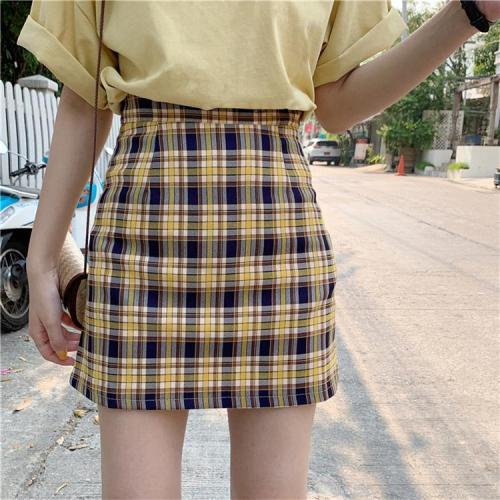 Women checked mini skirt plaid skirt summer beach vintage skirt retro spring short skirt girls 2020 new in