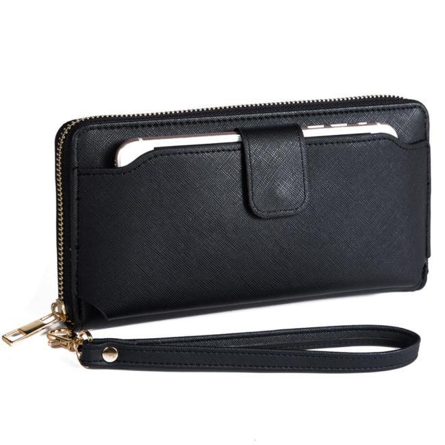 Women Wristlet Wallet Purse with Cell Phone Holder RFID Blocking bag