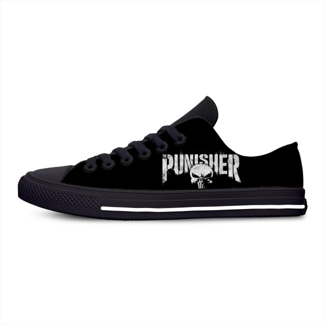 2020 Punisher 3D Skull Hot Cool Fashion Popular Casual Canvas Shoes Low Top Lightweight Breathable 3D Printed Men women Sneakers