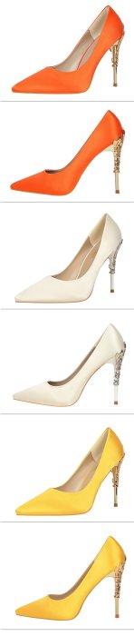 2019 Elegant Metal Carved Heels Women Pumps Solid Silk Pointed Toe Shallow Fashion High Heels 10cm Women's Wedding Shoes G0129