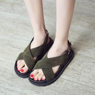 Women Rome Sandals Summer Flat Shoes Woman Platform Beach Sandal Open Toe Gladiator Style Female Casual Footwear SH031206