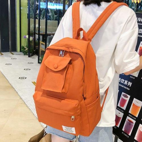 Female Cute Multi Pocket Backpack nylon Women School Bags For Girls Fashion Student Backpacks Kawaii waterproof book Bag Teenage