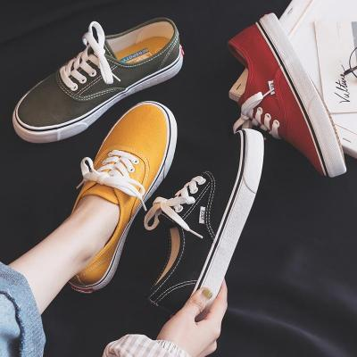 2020 New Canvas Shoes Women Teenagers Skateboard Shoes Spring Summer Candy Color Street Sneaker All Match Outdoor Footware 35-40