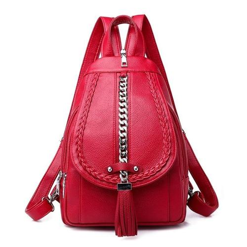 2020 Backpacks For Girls Mochilas Women Leather Backpacks Female Back Pack Preppy Style Large Capacity Travel Solid Rucksacks