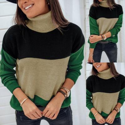 Hot Autumn Women's Long Sleeve Jumper Tops Sweater Warm Winter clothes High Neck Knitwear Ladies Casual Outwear Pullover Tops