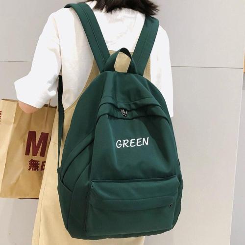 fashion women backpacks teenage girl cute school bag waterproof Student Letter Nylon embroidery backpack female book bags ladies