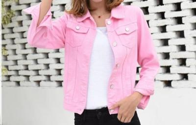 Jeans Jacket and Coats for Women 2020 Autumn Candy Color Casual Short Denim Jacket Chaqueta Mujer Casaco Jaqueta Feminina