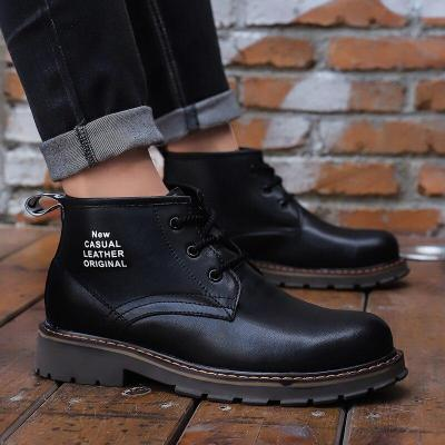 Autumn Winter New Martin Boots Outdoor Leather Boots Tooling Shoes Non-slip Waterproof Tooling Boots Men's Shoes