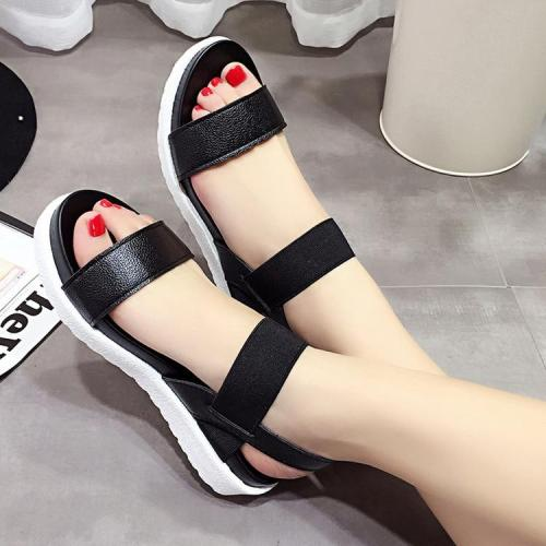 2020 Summer Sandals Women Flat Shoes Peep-toe Sandalias Rome Sandal Back Strap Woman Casual Shoe Ladies Flip Flops Footwear