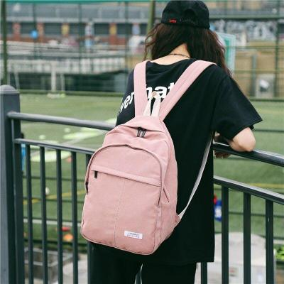 Solid color women backpack teenage girl Nylon school satchel female waterproof Casual large capacity fashion bag harajuku ladies