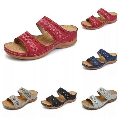 Dropship Women's Summer Open Toe Comfy Sandals Super Soft Premium Orthopedic Low Heels Walking Sandals Corrector Cusion
