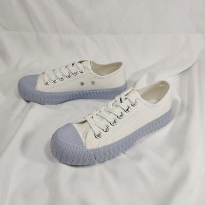 Casual Canvas Shoes Women Summer Sneaker Lace Up Ladies Walking Flats Shoes Woman White Sneakers New Fashion Shoes for Women