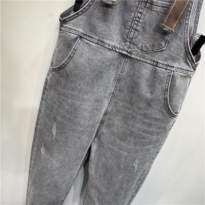 High Quality Korean Summer New Plate Buttons Denim Pants Loose Smoky Nine Jumpsuits Jeans Pants Women Fashion Streetwear 2020
