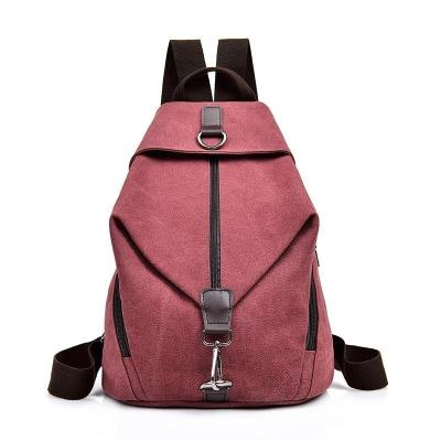 2020 Female Canvas Backpacks For Girls Sac A Dos School Bags For Girl Mochilas Casual Daypack Travel Shoulder Bag Women Backpack