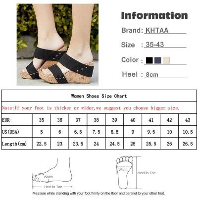 Women Wedges Elastic Band Platform Slippers Woman Fashion Thick Bottom Shoes Ladies Sandals Casual Female Plus Size Summer 2020