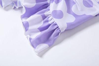 Ruffle floral skirt women casual mini skirt high waist beach boho chic skirt elegant office skirt female girl 2020