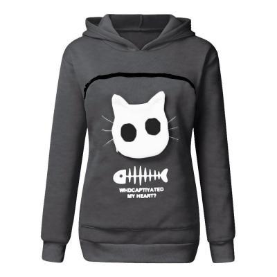 2020 winter women hooded sweatshirts Women's Sweatshirt Animal Pouch Hood Tops Carry Cat Breathable Pullover sweatshirts#g3