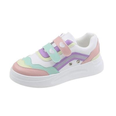 Women Sneakers Patchwork Casual Shoes Leather Sport Ladies Shoes 2020 Fashion Designer Shoes Vulcanized Shoes Big Size 42 8497G
