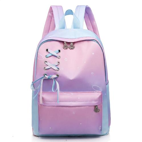 Crown Zipper School Backpack Bags For Girls Oxford Waterproof Travel Outdoor Bagpack Ladies Female Large Capacity Backpack Bag