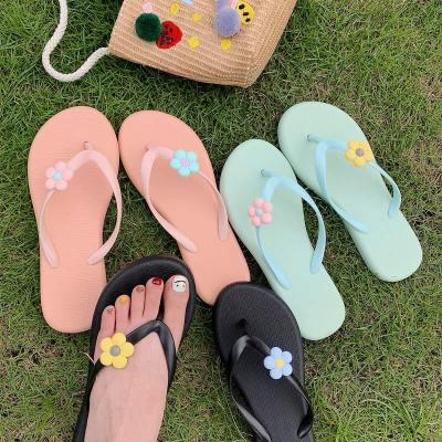Women's Summer Slippers Ladies Open Toe Slip On Non Slip Flower Flip Flops Woman Comfortable Casual Female Fashion Slipper 2020
