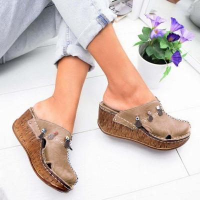 2020 Women's Sandals Summer Ladies Girls Comfortable Ankle Hollow Round Toe Sandals Female Soft Beach Sole Shoes Plus Size