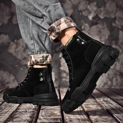 Super Warm Men's Winter Leather Ankle Boots Men Autumn Waterproof Snow Boots Leisure Martin Autumn Boots Shoes Mens 2020 New