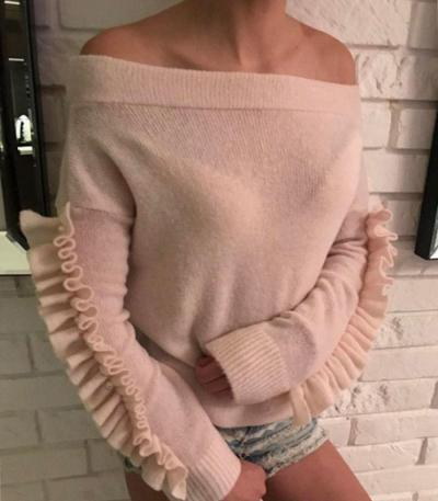 Hot Sexy 2017 Womens Loose Knitted Long Sleeve Jumper Sweater Fashion Off Shoulder Ladies Casual Pullover Knitwear Tops Sweaters