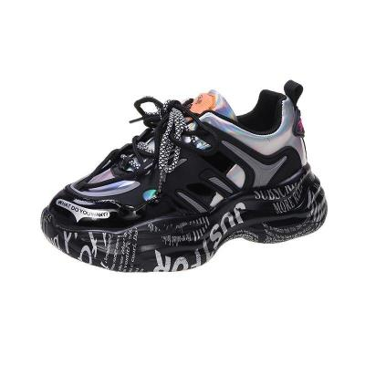 2020 Autumn Woman Platform Sneakers Luxury Designers Chunky Casual Shoes Women Fashion Old Dad Shoes Running Trainers Female 5cm