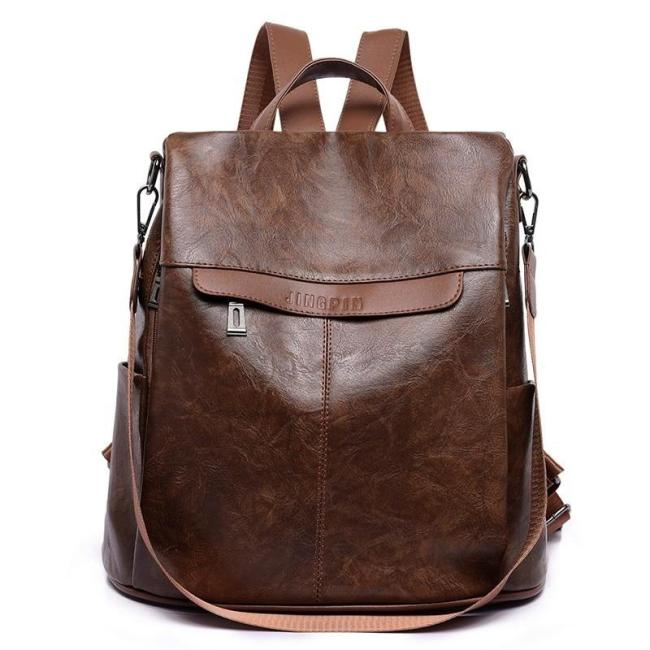 2020 Women Leather Backpacks For Teenage Girls Sac A Dos Female Backpack Pu Leather High Quality School Bags For Girls Mochilas