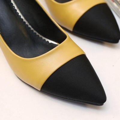 2021 Women's Shoes Autumn Women Black Wedge Pumps Pointed Slope Single Shoes Comfortable Casual Shoes Pumps Wedge Heels 38 39 40
