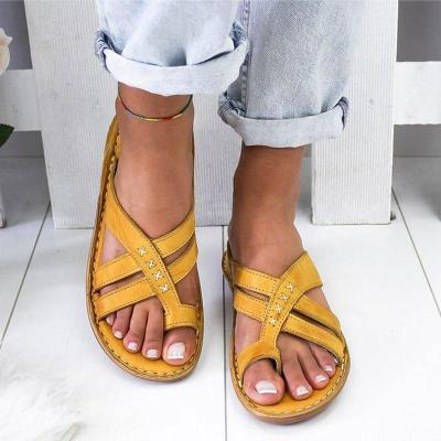 Women Sandals 2020 Summer Sandals for Women Beach Shoes Low Heels Wedges Shoes Women Flip Flops Gladiator Flat Sandalias Mujer