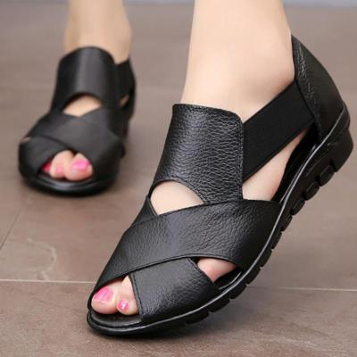 Large size 35-42 Ladies wedge sandals Shallow Non-slip Fashion Summer shoes women Soft Hard-wearing Sandals female